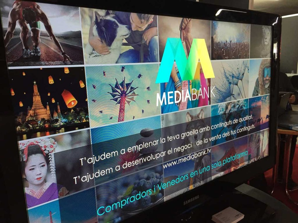 MediaBank stand at Audiovisual MAC trade show in Barcelona.